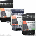 3 PAIRS MENS BUTTON FLY SOFT JERSY BOXER SHORTS UNDERWAER PANTS TRUNKS BRIEFS