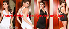 Black or Red Open String Back Tank Style Mini Dress Clubwear Party Plunge Top