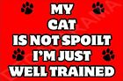 My Cat Is Not Spoilt I'm Just Well Trained Cat Fridge Magnet Gift/Present