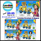 DESPICABLE ME MINION PERSONALISED BIRTHDAY PARTY INVITATIONS - PACKS OF 10 & 15