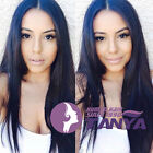 "14"" - 20"" Silky Straight 100% Brazilian Remy Hair Full Front Lace Wigs"