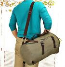 Military Canvas Vintage Bucket Backpack Rucksack Travel Crossbody Hiking Men Bag