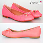 NEW CHILDRENS GIRLS BUCKLE DETAIL SUMMER PARTY SLIP ON FLAT BALLET PUMPS SHOES