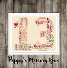 Personalised Birthday ANY AGE/ COLOUR Wordart 13th 16th 21st 30th 40th & More