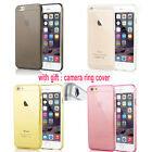 Ultra Thin Soft TPU Clear Rubber Skin Case Cover For iPhone 6 6 Plus +Lens cover
