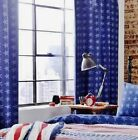 "Catherine Lansfield Stars and Stripes Curtains 66"" x 72"" American flag"