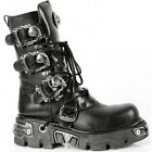 NEWROCK New Rock 391-S1 Black Metallic Reactor Goth Biker Unisex Negro Boots 391