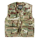 Kids Army Latest Multi Terrain Camouflage Multi Pocket Vest Ages 3 - 13 Years