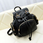 Women's Faux Leather Drawstring Mini Small Backpack Rucksack Casual Travel Purse