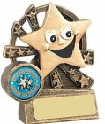 Happy Star Face Award Trophy 8.75cm Free Engraving up to 30 Letters RM434A