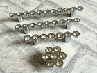 "2.5"" 3.75"" 5"" Rhinestone Pulls Drawer Handles Cabinet Handle Silver 64 96 128 mm"