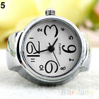 Women Ladies Popular Steel Round Case Elastic Quartz Finger Chic Ring Watch