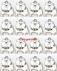White bulldog dog Metal Charms pendants DIY Jewellery Making crafts D01
