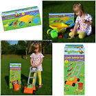 KIDS GARDEN TOY WHEELBARROW LAWNMOWER SET WATERING CAN SAND PIT BEACH TOOLS