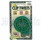 CLIP TWISTS STRONG PLASTIC COATED WIRE EASY CLIP-ACTION TYING TIES GARDEN TOOL