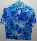 True Vintage Waikiki Wear by Mildred's Of Hawaii Blue Floral Island Small Shirt