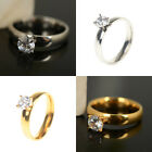 Stainless Steel Silver Gold Engagement Wedding Ring Love Ring Sz 7-10