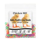 100-200 Chick Leg Bands ~ 3/16 Small Poultry Bantam Chickens Quail Game Bird