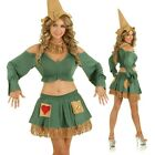 Womens Fairytale Scarecrow Girl Costume Wizard of OZ Halloween Party Outfit