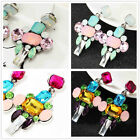New Design Woman's Multicolor Crystal Bling Rainbow Stud Drop/Dangle Earrings