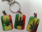 Cannabis Ganja Leaf Clip On Keyring Key Ring Lobster Clasp *Random*