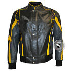 New Black and Yellow Batman Leather Costume jacket