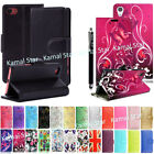 Kyпить For Various Sony Xperia Phones PU Leather Book Side Flip Case Cover + Stylus на еВаy.соm