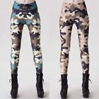 Womens Camouflage Leggings Clubwear Jeggings Skinny Sports Yoga Pants Fitness