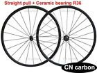 Straight pull +Ceramic bearing R36  hub 24mm Tubular carbon bike wheelset