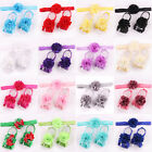 1 Set 3PCS Girls Kids Toddler Infant Foot Headband Hair Flower Baby Accessories