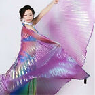 Women Belly Dance Isis Wings Gradient Colorful Stage Opening Dance