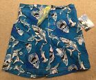 JOE BOXER, NWT Toddler SWIM SHORTS, UPF 50, Sea Sharks,Multi SIZE, KM