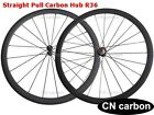 R36 Straight Pull hub  U Shape 38mm Tubular carbon road bicycle wheels