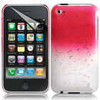For Apple iPod Touch 4 4th Gen 4G Stylish 3D Rain Drop Hard Case Cover