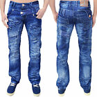 Mens Designer Kosmo Lupo Jeans Regular Fit Stylish Italian Trendy Denim Pants