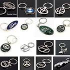 CAR KEY CHAIN CHROME METAL DESIGN KEYRING WITH LOGO FOR DIFFERENT CAR MODELS