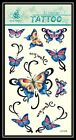 "9 Styles Butterfly Letter ""I Love You"" Removable Temporary Tattoo Gift GF450"