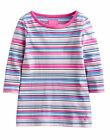 *BNWT* Little Joules Jnr Pickle Long Sleeve Top - Navy Multi Stripe - NEW SS15