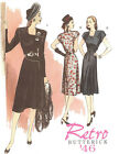 Retro 1946 Day Dress PATTERN Butterick 5281 to Sew 40s Hollywood Glamour sz 6-22