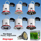 4x 10x LED Downlight Fire Rated Recessed Ceiling Fixed / Tilt LED GU10 60SMD 6W