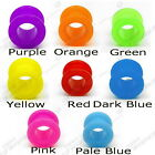 NEON SCREW ON FLESH TUNNEL ACRYLIC EAR STRETCHER CLEARANCE BODY JEWELLERY