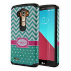 For LG G4 H815 F500 VS986 H810 Hybrid Hard Rubber Silicone Fusion Case Cover