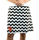 San Fran Giants Black Chevron Striped Gameday A Line Sport Women Skirt XS~ XL