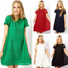 Sexy Womens Summer Casual Lace Short Sleeve Cocktail Evening Party Mini Dress