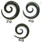 ORGANIC BLACK HORN SPIRAL TAPER BUY 1 GET 1 50% OFF BUFFALO HORN EAR STRETCHERS
