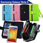 Samsung Galaxy Note 4 N910 N910F N910X Case Magnet Leather Coins Wallet Cover