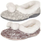 Dunlop  Slip On Fur Lined Ballerina Slippers  Womens Size