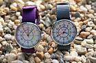 EASYREAD TIME TEACHER WATCH purple or grey for kids & adults WATER RESISTANT