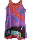 Nepali Funky Boho Hand Embroidered & Patched Tie Dyed 100% Cotton Women's Dress