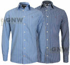 TOMMY HILFIGER MEN'S NEW YORK STRIPE SHIRT BLUE, NAVY S,M,L,XL,XXL Was £75.00